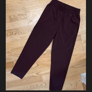 NWOT Victoria's Secret Sport burgundy/maroon pants